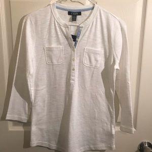 Chaps long sleeve light knit 100% cotton Small